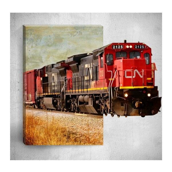 Nástěnný 3D obraz Mosticx Train, 40 x 60 cm