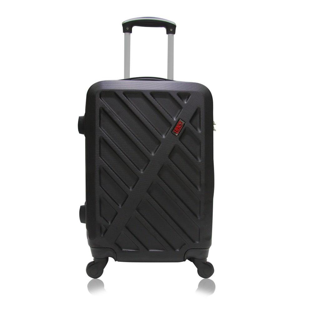 Černý cestovní kufr na kolečkách Hero Way, 91 l