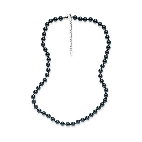 Perlový náhrdelník Mystic Dark Blue, 42 cm