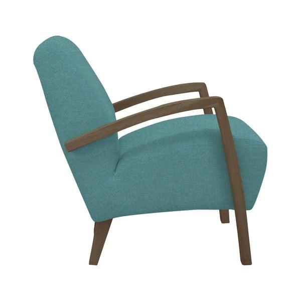 Světle modré křeslo s tmavými nohami Windsor & Co Sofas Luna