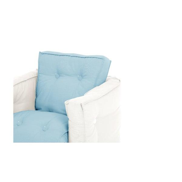 Dětské rozkládací křesílko Karup Design Mini Dice Blue/Creamy