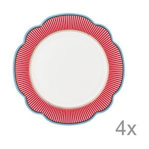 Porcelánový talíř Happy od Lisbeth Dahl, 24 cm, 4 ks