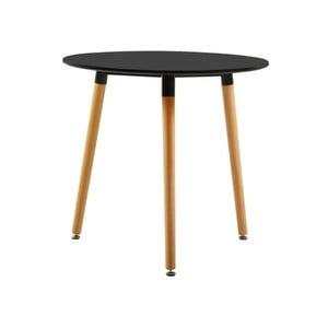 Černý jídelní stůl Jane, ⌀80cm