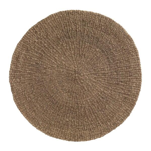 Hnědý koberec z mořských řas Geese Rustico Natura, ⌀ 150 cm