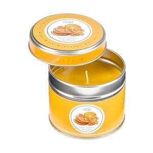 Aroma svíčka v plechovce s vůní pomeranče a jantaru Copenhagen Candles  Sweet Orange & Amber, doba hoření 32 hodin
