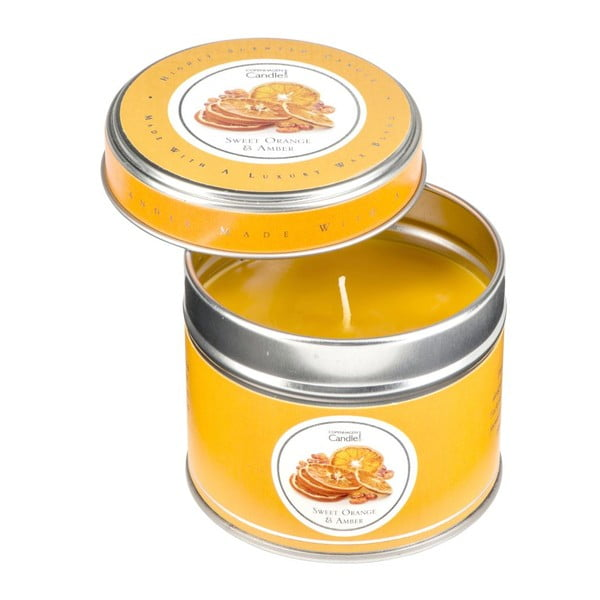 Lumânare parfumată în cutie Copenhagen Candles Sweet Orange & Amber, 32 ore