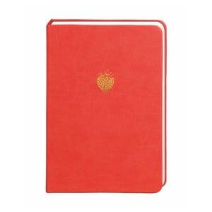 Červený zápisník Portico Designs, 300 stránek