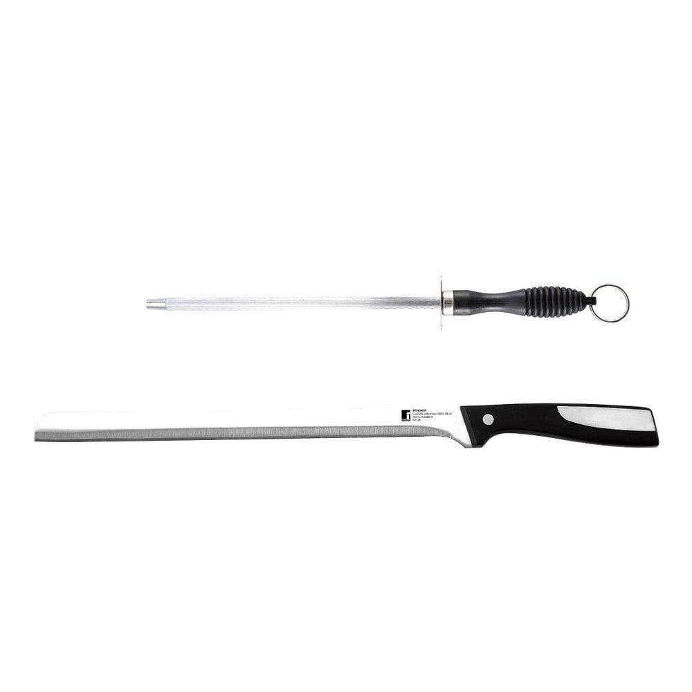 Set nerezového nože na šunku a brousku Bergner