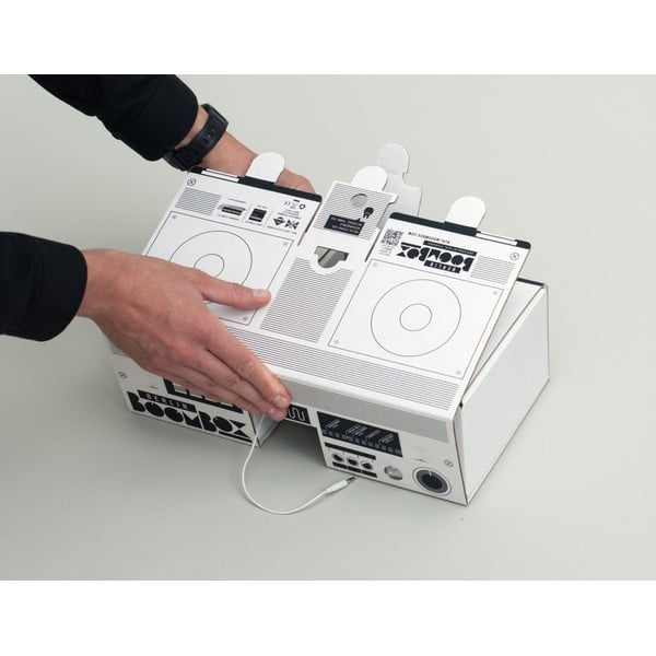 Kartonové reproduktory Berlin Boombox, white