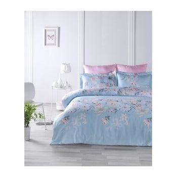 Lenjerie de pat din bumbac satinat și cearșaf Ciello, 160 x 220 cm de la Unknown