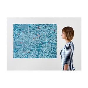 Modrá nástěnná mapa Palomar Pin Londýn
