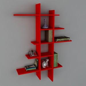 Police Atlanta Book Red, 22x90x150 cm