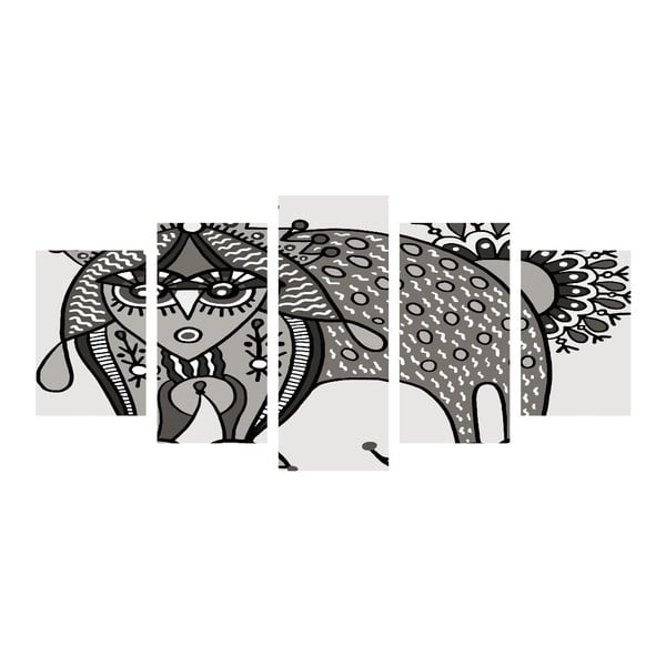 Vícedílný obraz Black&White Cat