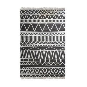 Ručně vyráběný koberec The Rug Republic Canton Charcoal Ivory, 160 x 230 cm