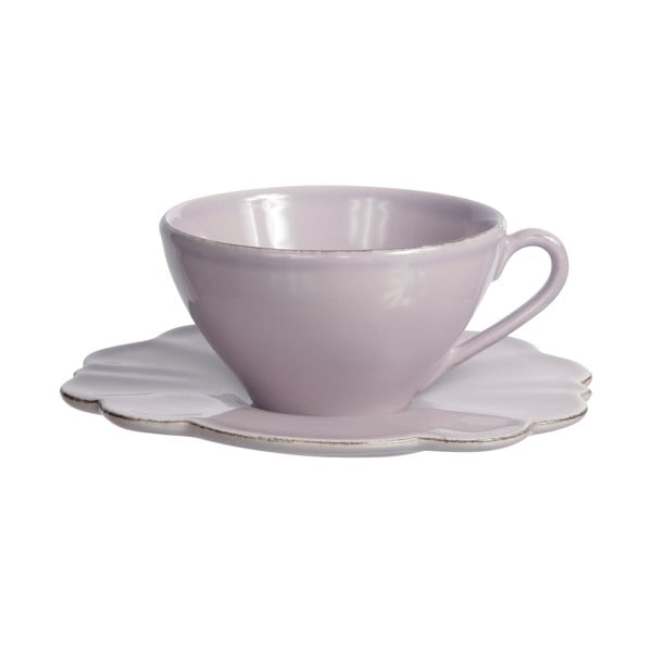 Šálek s podšálkem Lilac Petale, 250 ml