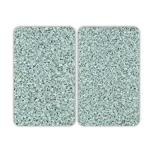 Skleněný kryt na sporák Granite, 2 ks
