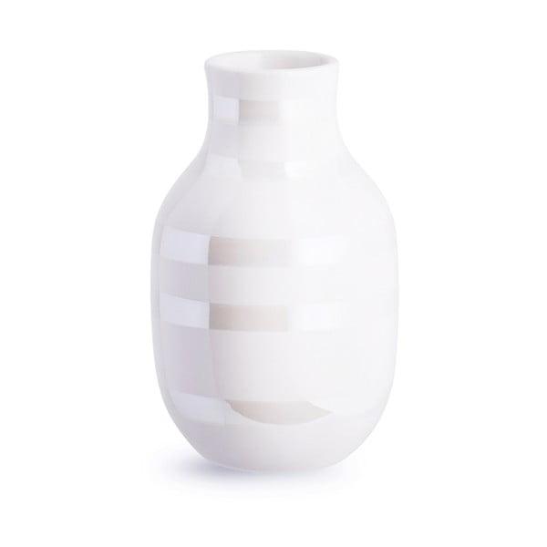 Vază din gresie ceramică Kähler Design Omaggio, înălțime 12,5 cm, alb