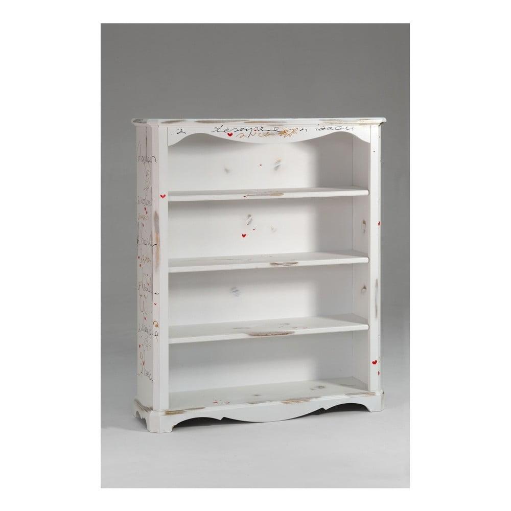 Bílá dřevěná knihovna Castagnetti Renoir