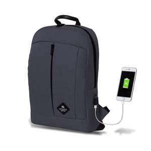 Antracitový batoh s USB portem My Valice GALAXY Smart Bag