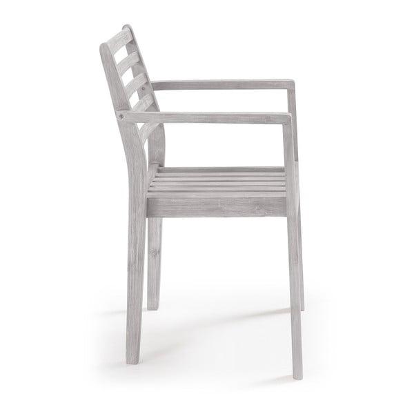 Sada 4 světle šedých židlí La Forma Berkeley