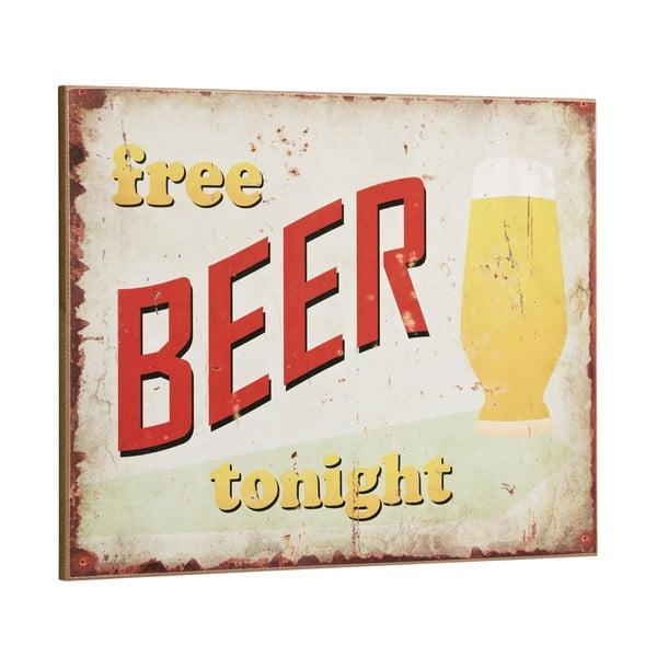 Cedule Free Beer tonight, 30x40 cm