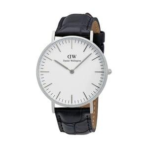Pánské hodinky s černým páskem Daniel Wellington Reading Silver, ⌀40mm