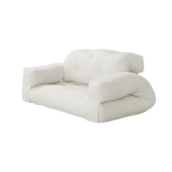Sofa rozkładana z jasnobeżowym obiciem Karup Design Hippo Natural