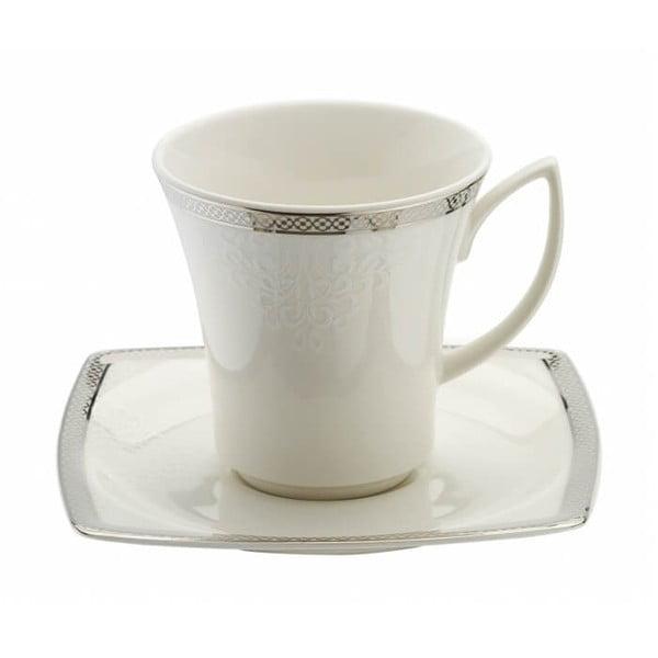 Sada 6 porcelánových šálok s tanierikmi Kutahya Rahno