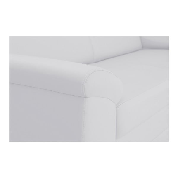 Canapea cu șezlong pe partea dreaptă Florenzzi Medium, alb