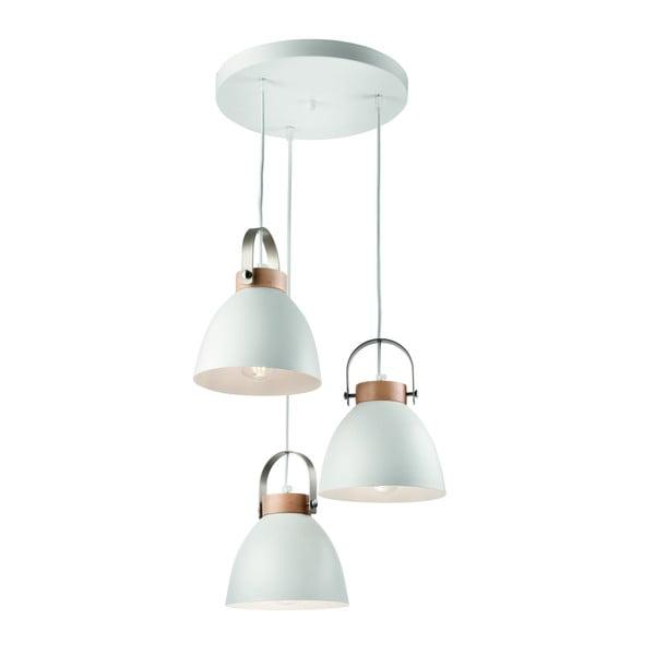 Biała lampa wisząca na 3 żarówki Lamkur Danielle