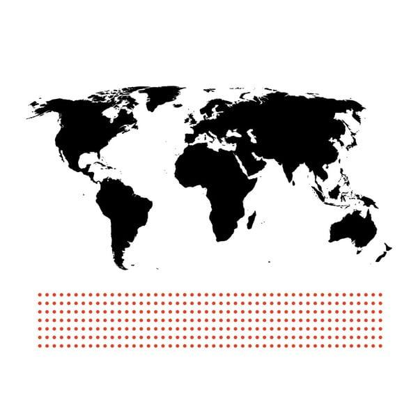 Samolepka World, 400x200 cm