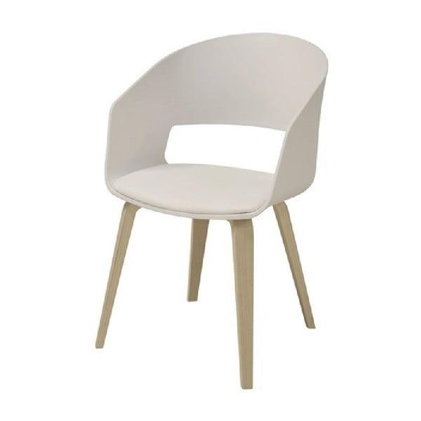 Komplet 2 białych krzeseł Interstil Luna
