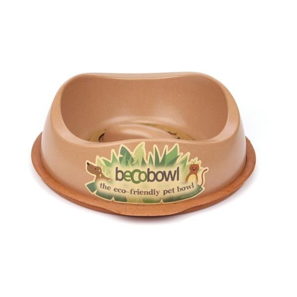 Psí/kočičí miska Beco Bowl 28,5 cm, hnědá