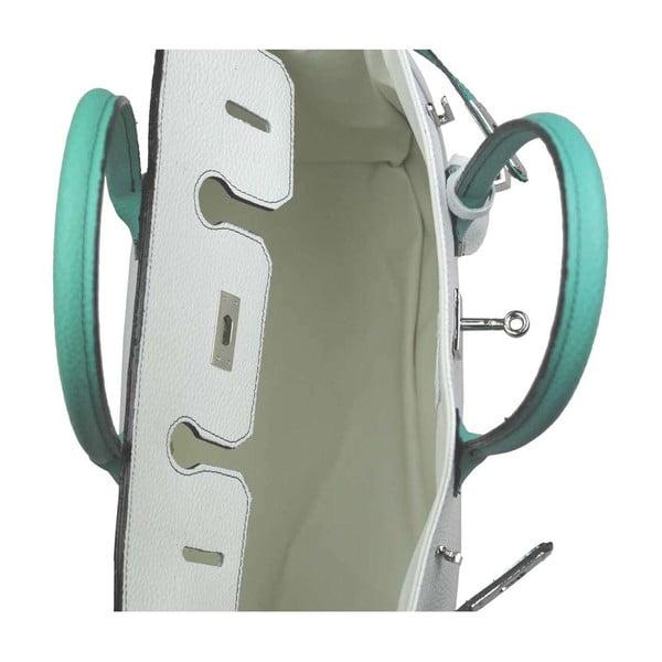 Kožená kabelka Bark White & Turquoise