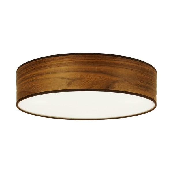 Stropní svítidlo z přírodní dýhy v barvě ořechového dřeva Sotto Luce TSURI,⌀40cm