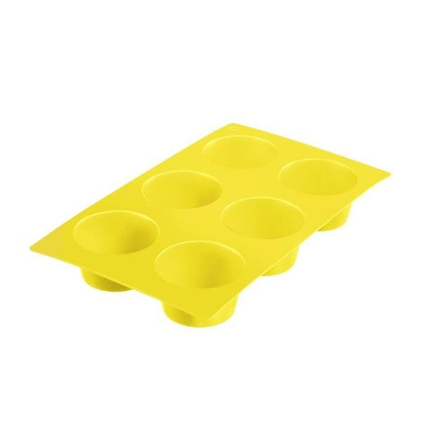 Silikonová forma na muffiny Baking, žlutá