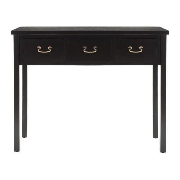 Černý konzolový stolek Safavieh Riley
