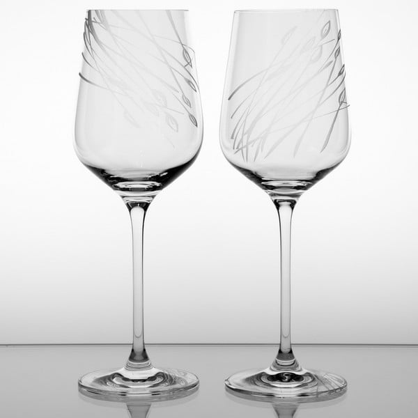 Ateliér Žampach, set 2 ks skleniček na bílé víno Áron