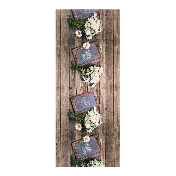 Covor foarte rezistent Floorita Lavagna, 58 x 115 cm