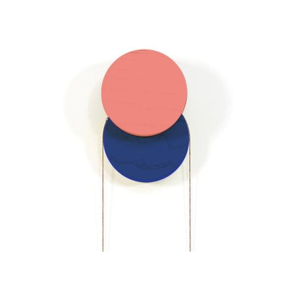 Červeno-modrý nástěnný háček HARTÔ Lou