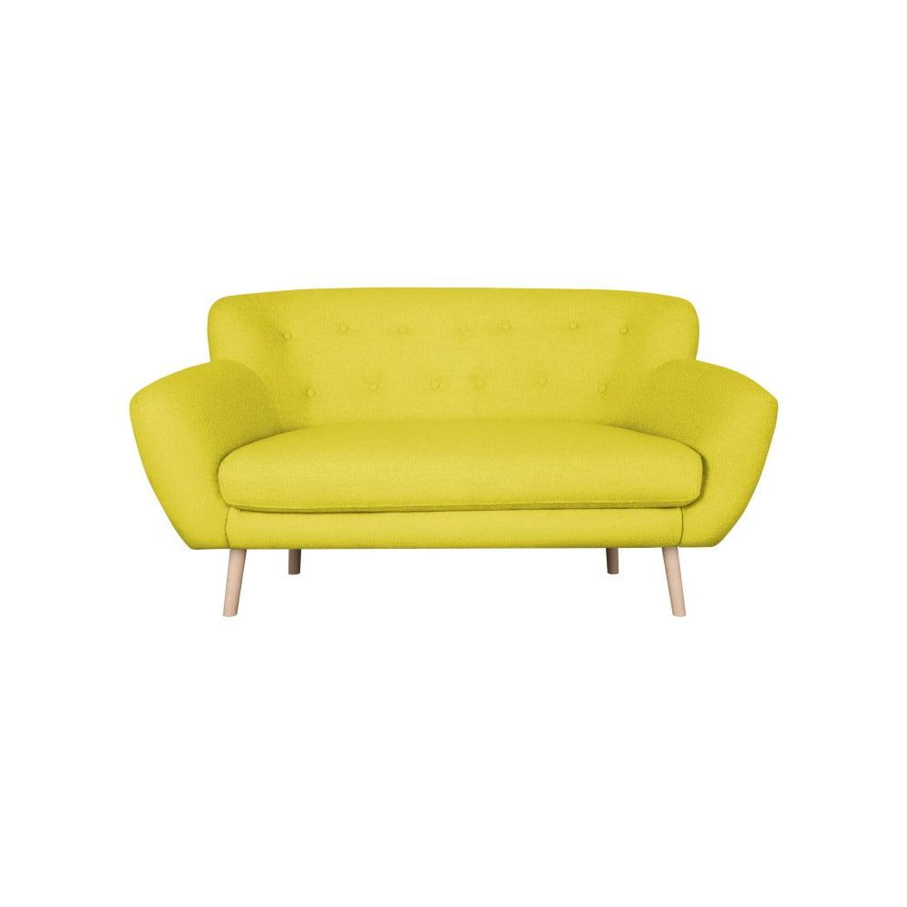 Žlutá dvojmístná pohovka Kooko Home London