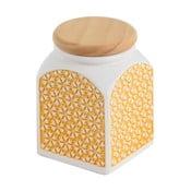 Keramická dóza Žluté slunce, 8x8x11 cm