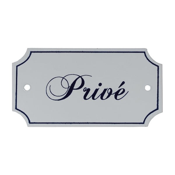 Cedulka pro privátní zónu Athezza White Plate Prive