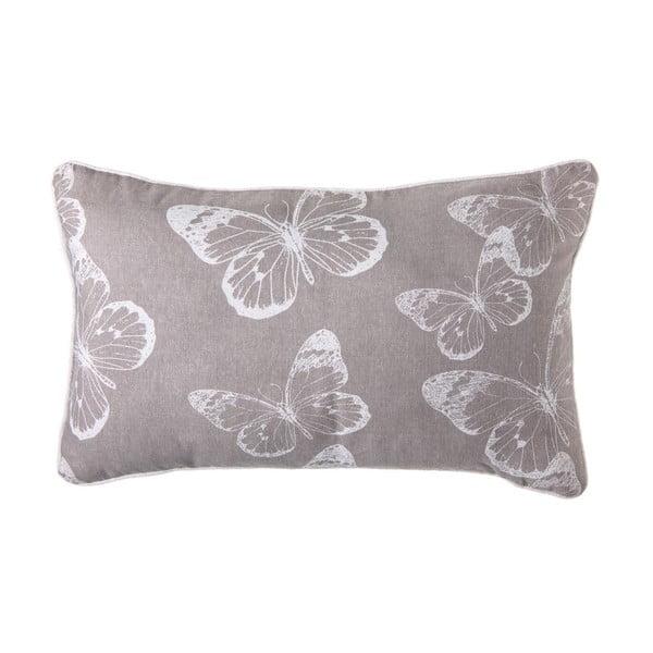 Polštář Butterfly Grey, 50x30 cm