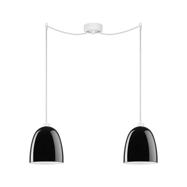 Dvojité světlo AWA Elementary black glossy/white/white