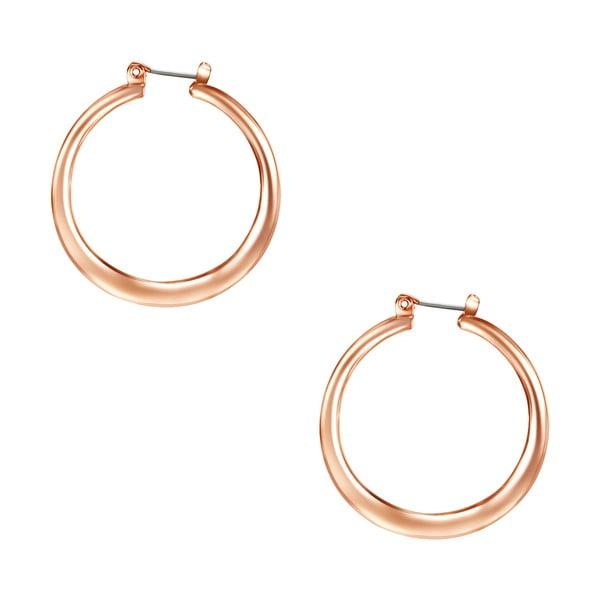 Dámské kruhové náušnice v barvě růžového zlata Tassioni