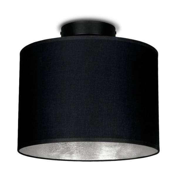 Černé stropní svítidlo s detailem ve stríbrné barvě Sotto Luce MIKA,⌀25cm