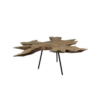 Măsuță auxiliară din lemn de tec HSM Collection Tribe, 45 x 80 cm