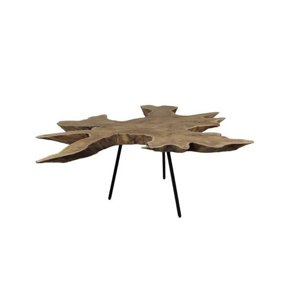 Odkládací stolek s deskou z teakového dřeva HSM collection Tribe, ⌀80cm
