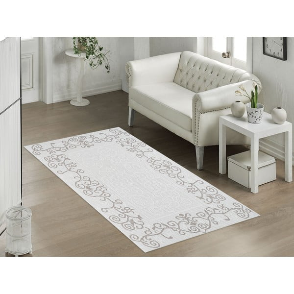 Béžový odolný koberec Vitaus Orchidea, 100x150cm